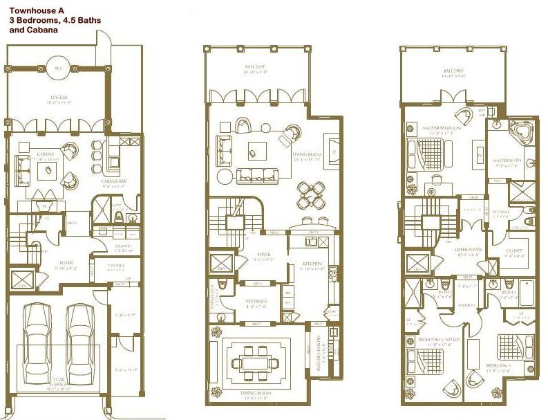 Townhouse Floor Plans Luxury